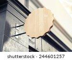 3d rendering of signboard | Shutterstock . vector #244601257