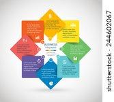 template for diagram  graph ... | Shutterstock .eps vector #244602067