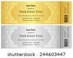 luxury golden and silver... | Shutterstock .eps vector #244603447