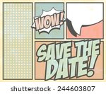 save the date  illustration in... | Shutterstock .eps vector #244603807