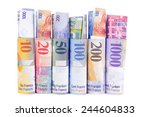 swiss franc rolls  | Shutterstock . vector #244604833