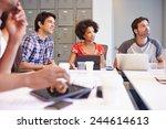 designers meeting to discuss... | Shutterstock . vector #244614613