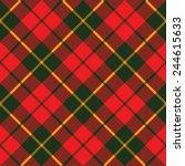 Tartan Fabric Texture Diagonal...