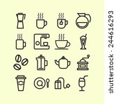 set of simple icons for... | Shutterstock .eps vector #244616293