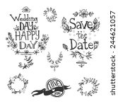 graphic hand drawn set  letters ... | Shutterstock .eps vector #244621057