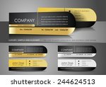 one side rounded mini business... | Shutterstock .eps vector #244624513