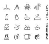 spa icons | Shutterstock .eps vector #244631593