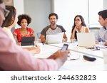 designers meeting to discuss... | Shutterstock . vector #244632823