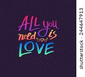 all you need is love card... | Shutterstock .eps vector #244647913