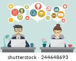business and teamwork concept | Shutterstock .eps vector #244648693