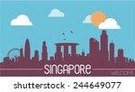 singapore skyline silhouette... | Shutterstock .eps vector #244649077