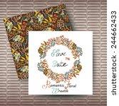 vector circular floral wreaths... | Shutterstock .eps vector #244662433