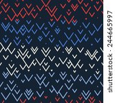 seamless vector geometric... | Shutterstock .eps vector #244665997