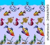 cartoon fish  illustration of...   Shutterstock . vector #244669693