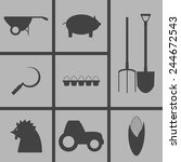 set of icons on a theme...   Shutterstock .eps vector #244672543
