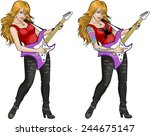 Female Rock Musician With...
