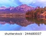 Pyramid Lake in Jasper National Park, Alberta, Canada