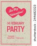 valentine flyer | Shutterstock .eps vector #244682323
