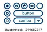 buttons set for web design ... | Shutterstock .eps vector #244682347