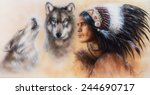a beautiful airbrush painting... | Shutterstock . vector #244690717