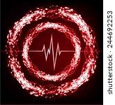 red pulse light abstract... | Shutterstock .eps vector #244692253