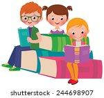 stock cartoon illustration of a ... | Shutterstock . vector #244698907
