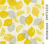 contemporary lemon seamless... | Shutterstock .eps vector #244711213