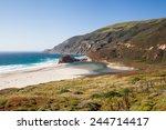 Quite Beach Along Pacific Coas...