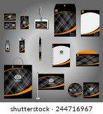 abstract business stationery... | Shutterstock .eps vector #244716967