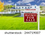 foreclosure home for sale real... | Shutterstock . vector #244719007