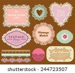 vintage elegant label 2 | Shutterstock .eps vector #244723507