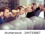 group of diverse people in a... | Shutterstock . vector #244733887