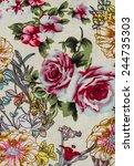 flower print fabric close up... | Shutterstock . vector #244735303