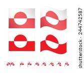 Greenland Flags EPS 10
