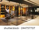 modern fashion shop storefront...   Shutterstock . vector #244757737