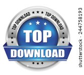 blue top download badge with...