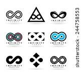 infinity symbols  3  | Shutterstock .eps vector #244758553