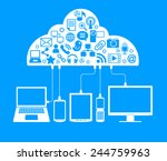 social network  communication... | Shutterstock .eps vector #244759963