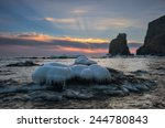 winter sunrise on the coast of... | Shutterstock . vector #244780843