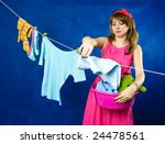 charming young housewife... | Shutterstock . vector #24478561