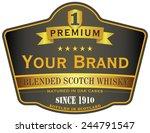 whisky label | Shutterstock .eps vector #244791547