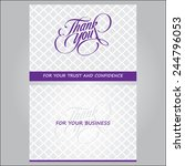 thank you for you business card