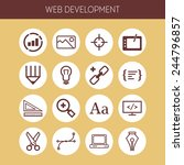 set of simple icons for web... | Shutterstock .eps vector #244796857