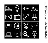 set of simple icons for web... | Shutterstock .eps vector #244796887