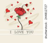 a greeting for valentine. | Shutterstock .eps vector #244812727