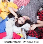 fashion concept young... | Shutterstock . vector #244861513