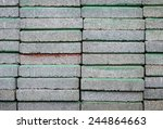 stack of concrete blocks at the ... | Shutterstock . vector #244864663