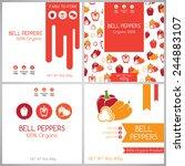bell pepper labels set.... | Shutterstock .eps vector #244883107