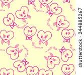 seamless pattern. hand drawn... | Shutterstock .eps vector #244885267