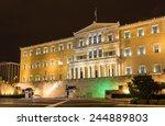 Hellenic Parliament At Night  ...